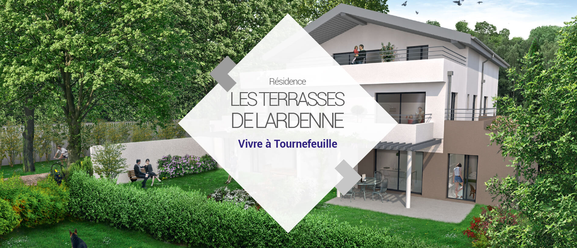 BG Promotion - Slide Vidéo 3D - Les Terrasses de Lardenne
